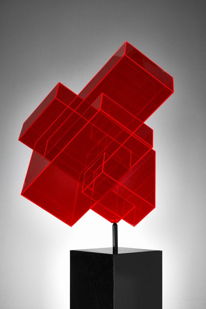 Skulptur rot Ralph Kerstner